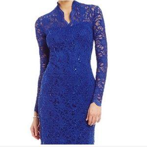 6e59ef4c MARINA Dresses | Longsleeve Sequin Lace Dress Royal | Poshmark